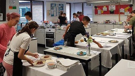 Ten aspiring chefs took part in March Rotary Club's cooking competition held at Neale-Wade Academy.