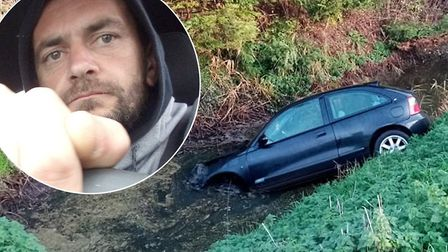 Paul Southwell, a dad of four from March, says he is lucky to be alive after a pothole at Whittlesey