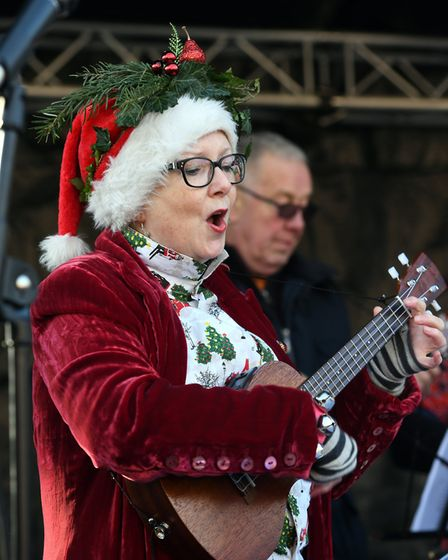 Stalls filled Broad Street and High Street in March for the annual Christmas market on Sunday, Decem