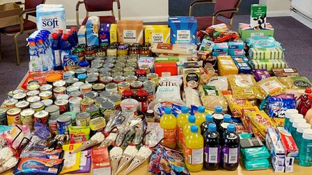 Slimming World members donate food for advent to help less fortunate families. Picture: ANNA FOSTER