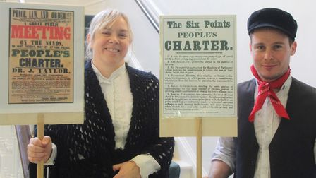 Students and staff at King's Ely Senior commemorated the bicentenary of the Peterloo Massacre during
