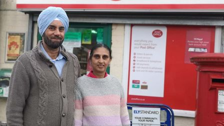 Sukhpal Jatana of Mepal Post Office (pictured with her husband Gurdip) helped save one of her regula
