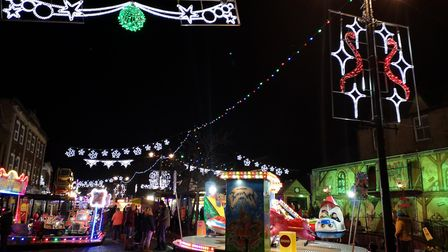 Hundreds attended the annual March Christmas lights switch-on in Market Square on Friday, November 2