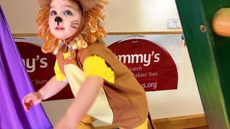 Babies and children from Tumble Tots in Ely dressed up as their favourite jungle animal in their les