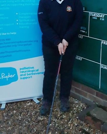 Members of the March Golf Club are gearing up for a year of fundraising for Sue Ryder Thorpe Hall Ho