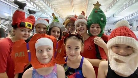Dunmow Atlantis swimmers at the Christmas Cracker meet