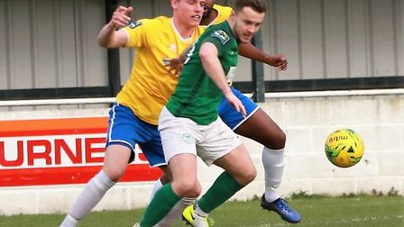 Sam Mulready scored in Soham Town Rangers' win at Whittlesey Athletic in the Cambs Invitation Cup. P