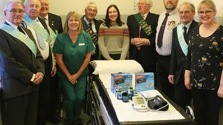 Around £500 of medical equipment was donated to Doddington Hospital by a group of Buffaloes. Picture