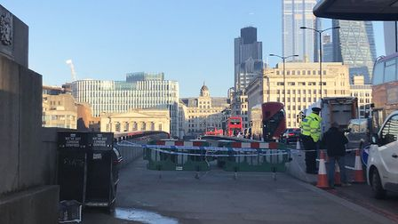 General view of London Bridge in central London, after it has reopened to pedestrians following the