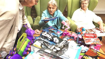 Askham Village Community care group are supporting Cambridgeshire Police's Christmas toy appeal. Pic
