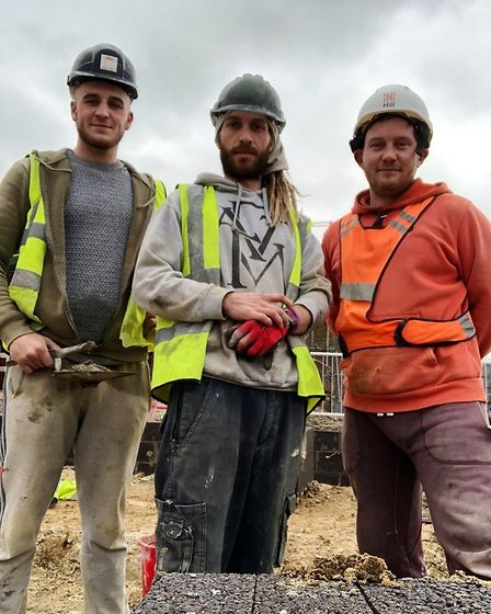 From left: Kiam Green, James Buddle, Richard Buddle, who rescued motorist from car in the river at S