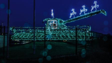 Ben Burgess Coates has pulled out the stops for an fantastic Christmas display outside their branch.
