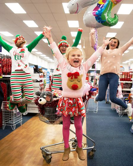 Christmas came early for five-year-old Lilly Godfrey who won the chance to go wild in the aisles at