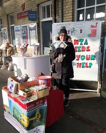 Julie Gordon (pictured) has hand-crafted Christmas cards to sell in aid of East Anglian Air Ambulanc