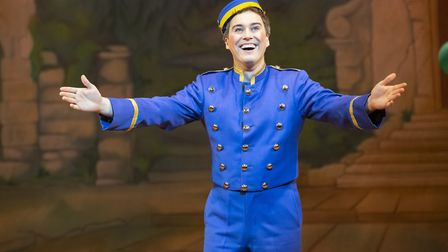 Cinderella is the Cambridge Arts Theatre's Christmas pantomime for 2019. Isaac Stanmore as Buttons.