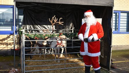 Santa was joined by some of his reindeer for an open event at Ernest Doe in Rayne. Picture: CONTRIBU