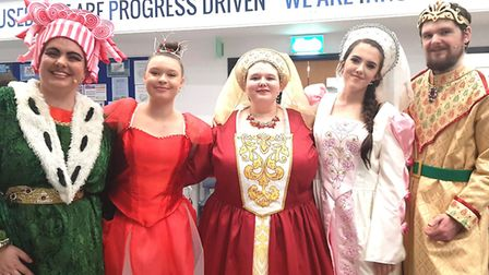 When The Littleport Players performed their Christmas pantomime 'Sleeping Beauty' there were standin