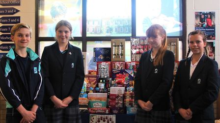 Boxes of food have been donated to Ely Foodbank in time for Christmas thanks to King's Ely students,