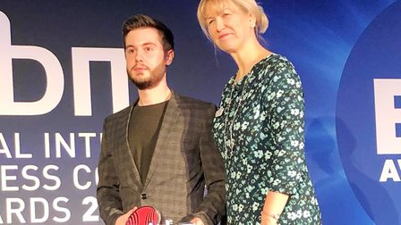 Broadcast engineer from a Witchford communications company has won an award barely a year on from jo
