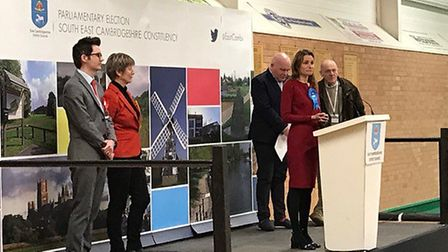 It was a landslide victory for the Conservatives in South East Cambridgeshire – with Lucy Frazer pro