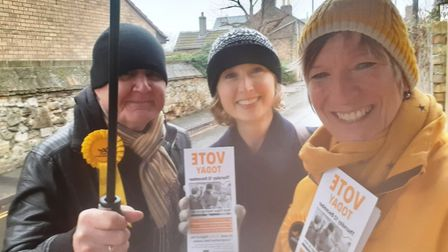 Pippa Heylings was criticised for the number of leaflets she sent out. She tweeted this photo of las