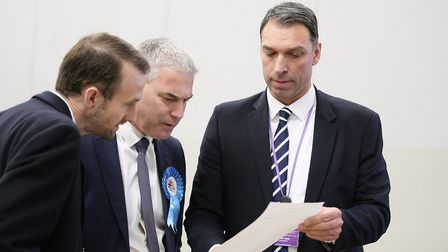 Barclay has a first look at the results. Picture: Harry Rutter/ARCHANT