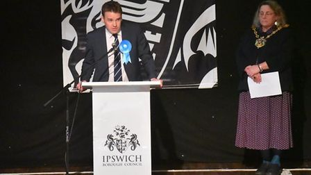 Ely-born Tom Hunt is the new MP for Ipswich after the Conservative candidate defeated Labour's Sandy