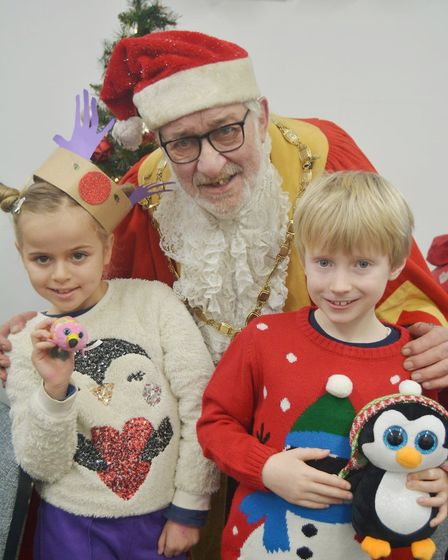 Father Christmas brought festive cheer to children who visited him at Sessions House in Ely this wee
