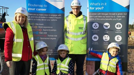 Pupils get first tour of Cromwell Community College's new primary phase development. Picture: ATHENE