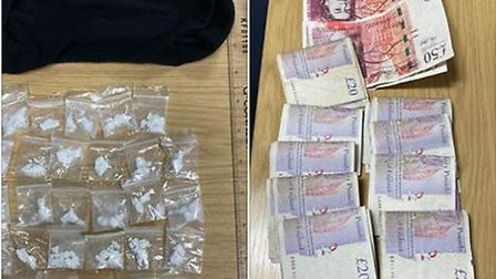 A 29-year-old man was arrested in Ely after officers found him with £1,200 in cash and a large quant