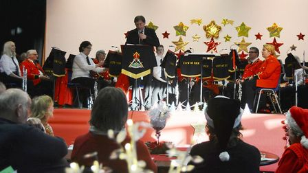 Joyous afternoon of Christmas music by City of Ely Military Band. Picture: MIKE ROUSE