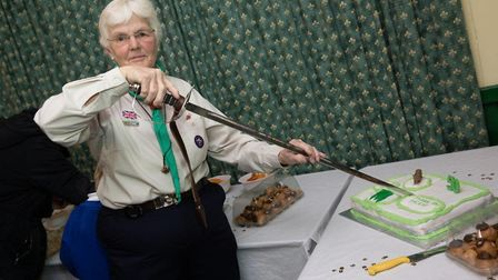 Jackie Martin celebrates 50 years with the scouts in Dunmow. Picture: CONTRIBUTED