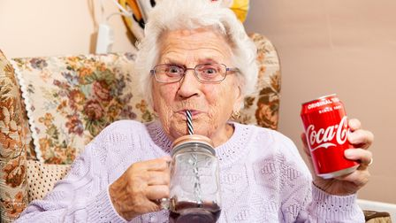 Jean Cox (91) Drinks a Coke a Day.,Home, ElyTuesday 08 October 2019. Picture by Terry Harris.