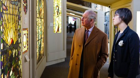 Fundraising appeal for £30,000 launched to expand Elys stained glass museum.The Prince of Wales at t