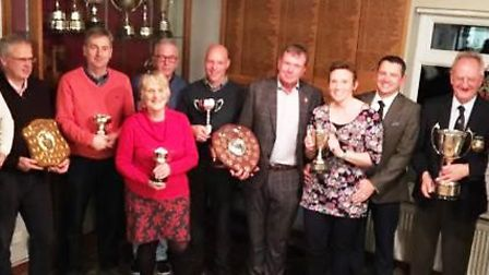 This year's trophy winners at the March Golf Club AGM. Picture: MARCH GOLF CLUB