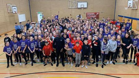 Pupils raise more than £13,000 for charity in 12 hour sports marathon. Witchford Village College wit