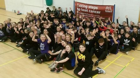 Pupils raise more than £13,000 for charity in 12 hour sports marathon. Pictured is Ely College. Pict