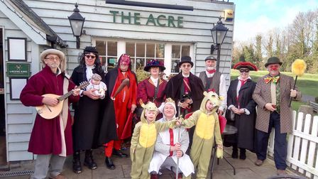 The March Mummers photo supplied by Liz Wright