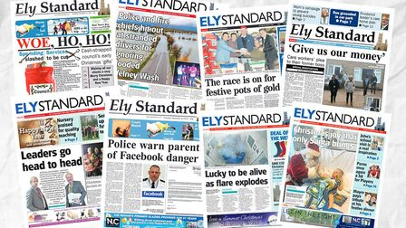 Take a look back at some of our favourite front pages from the Ely Standard between 2009 and 2019. P