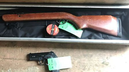 Crossbows, air rifles, batons and flick knives have been ordered online and seized by the postal ser