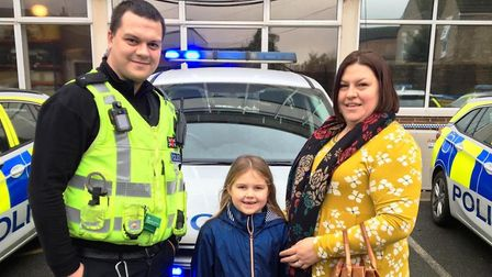 Officers at March police station were treated to an unexpected present when seven-year-old Eleanor s