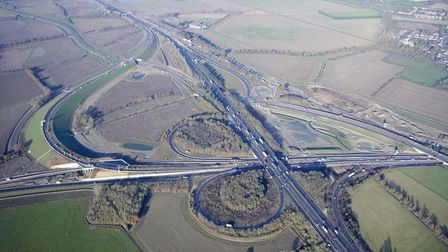 Looking back on a year of achievements for the A14 - Britain's biggest £1.5 billion road scheme. Pic