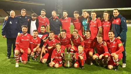 Ely City after lifting the Cambs Invitation Cup in 2017. Picture: ELLIE SEYMOUR