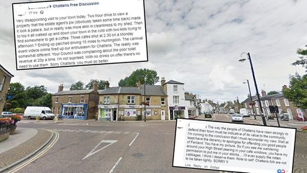 A man has apologised to Chatteris residents after he labelled a visit to the town very disappointing
