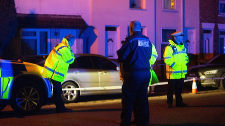 Murder investigation underway at Lincoln Road, Peterborough, on Sunday January 5. Picture: TERRY HAR