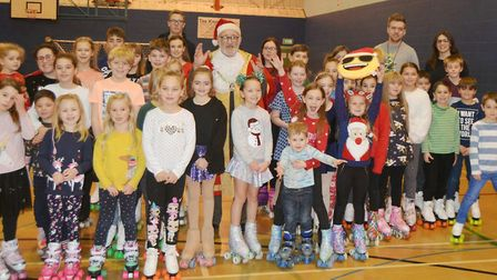 Roller skaters were keen to impress with their skills at the Christmas fun skate in Ely. Picture: MI