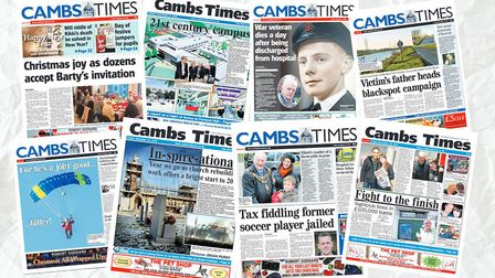Take a look back at some of our favourite front pages from the Cambs Times between 2009 and 2019. Pi