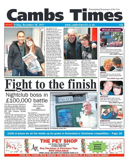 The Cambs Times in 2011.
