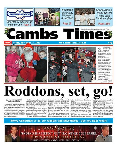 The Cambs Times in 2012.