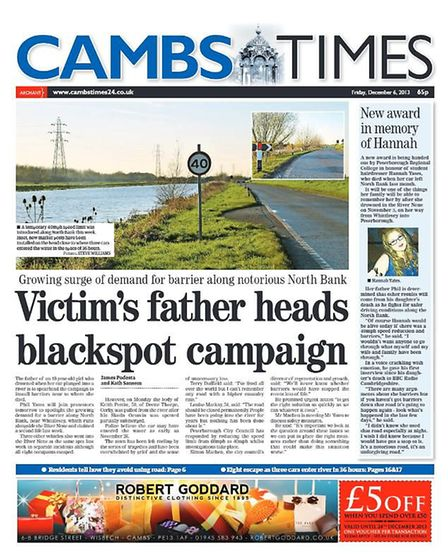 The Cambs Times in 2013.